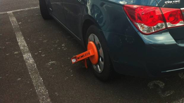 Linda Read says being clamped was unfair because she was still shopping. Note, this is not Read's car pictured.