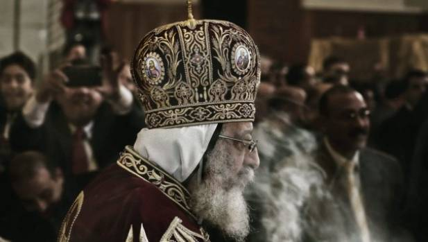 In negotiations. Coptic Pope Tawadros II, leads Christmas Eve Mass at St. Mark's Cathedral, in Cairo, Egypt.
