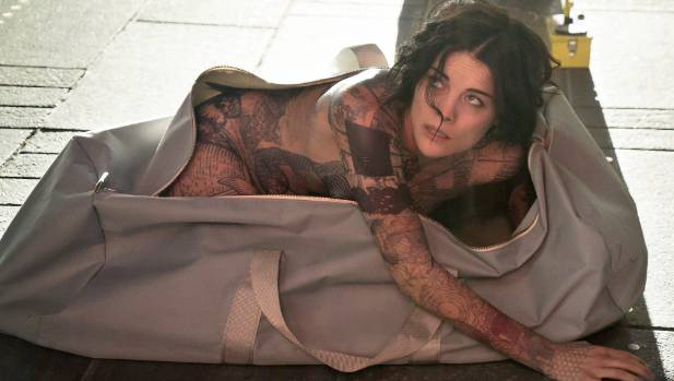 Jaimie Alexander as Jane Doe, waking up in Times Square in upcoming TV series, Blindspot.