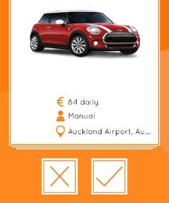 You can choose your rental car based on your specific travel needs.