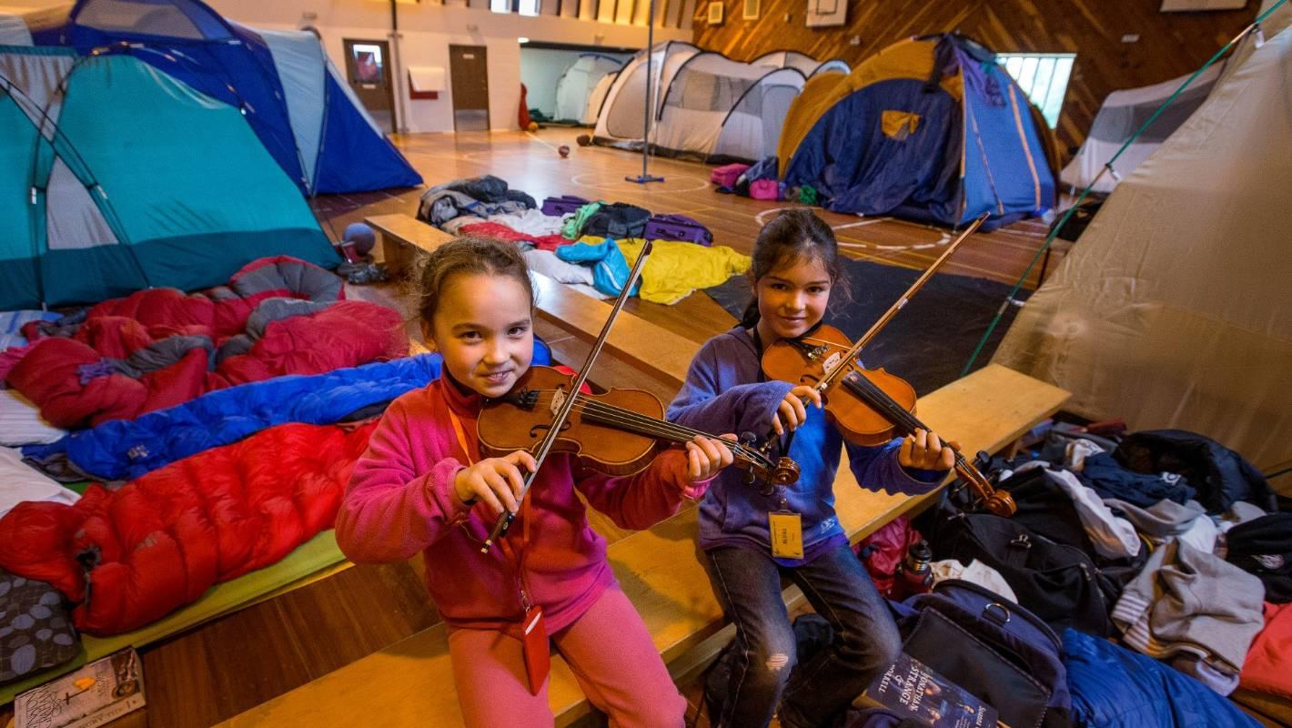torrential rain forces timaru music campers indoors