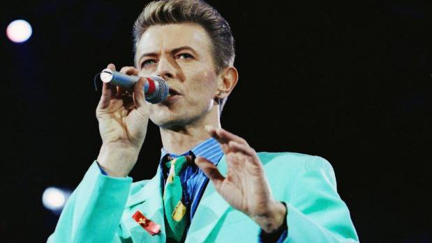 David Bowie performs on stage during The Freddie Mercury Tribute Concert at Wembley Stadium in 1992.