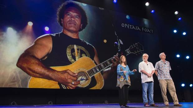 Te Vaka's Opetaia Foa'i is presented to the world at Disney23 as the man behind the music for its upcoming animated ...