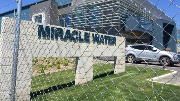 Miracle Water in Hastings, takes water from the Heretaunga Plains aquifer and exports it to Asia.