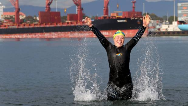 Korlina Volkov is delighted to get an opportunity to take part in an ocean swim in her own backyard.