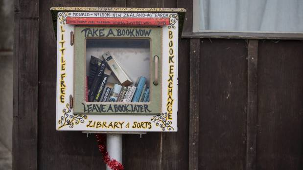 The Little Free Library in Monaco.