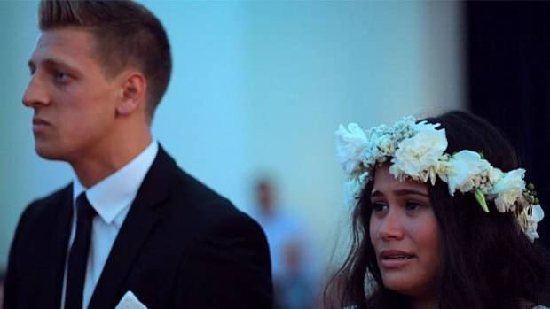 Benjamin and Aaliyah Armstrong at their wedding.