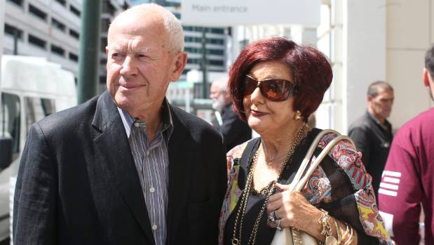 Peter and Sylvia Aitchison won an environment court battle over a fence that blocked their view of Wellington Harbour.
