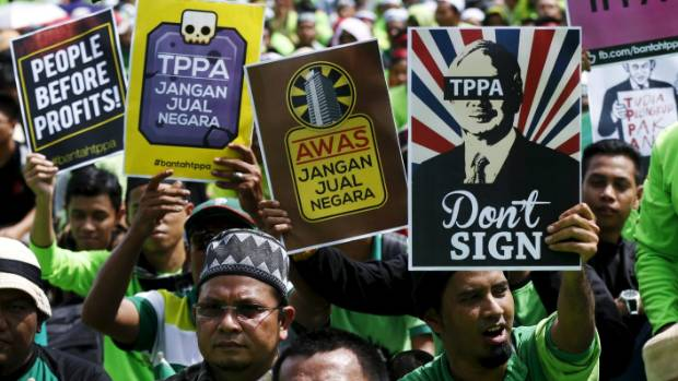 Anti-TPP activists demonstrated in their thousands in Kuala Lumpur, Malaysia.