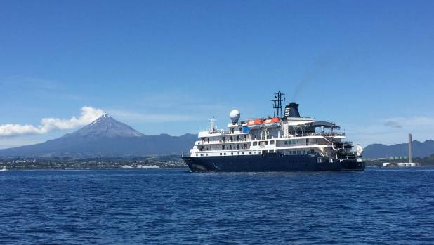 Taranaki Gets Flying Visit From Cruise Ship Stuffconz - Flying cruise ship