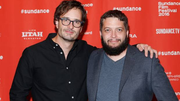 Director David Farrier and director Dylan Reeve at the Tickled premiere at Sundance.