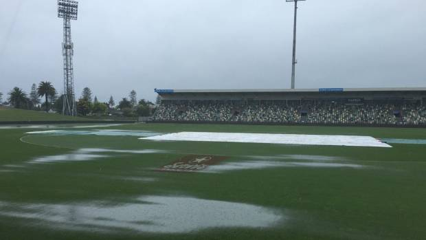 Sodden McLean Park, one day out from the second ODI.