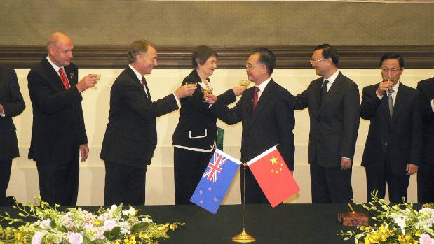 Then Prime Minister Helen Clark ushered in a free trade deal with China in 2008. Work on the TPPA ramped up soon after.