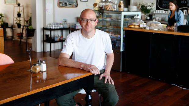 Brandon Bodden and his wife Lizzy own Hive, a new cafe in Rimu St, Eastbourne.
