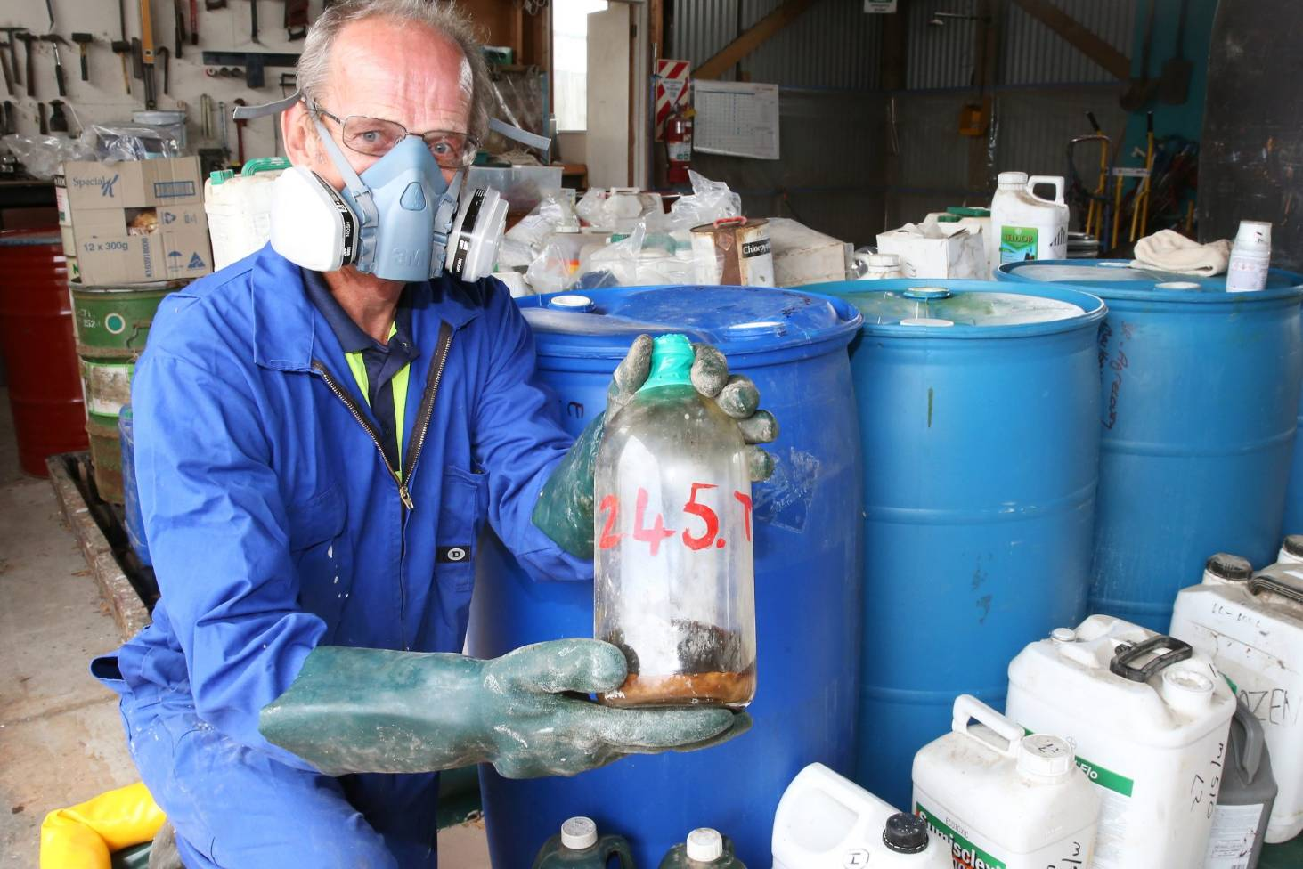 Out-of-date and banned toxins found during agri-chemicals round-up