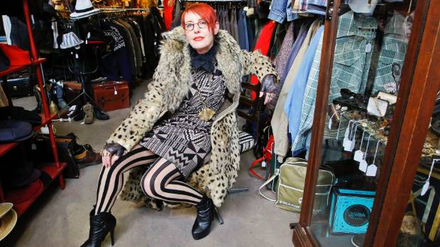Hunters and Collectors owner Chrissy O at her store on Cuba Street, Wellington.