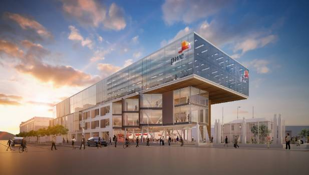 A new commercial building - yet to be built - on Wellington's waterfront has been leased by PricewaterhouseCoopers.