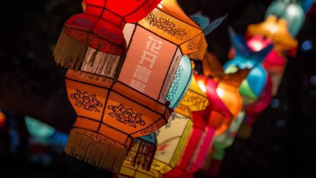 Auckland Lantern Festival has moved from Albert Park to the Domain.