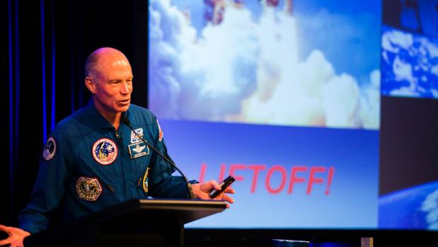 Former NASA astronaut Colonel Rick Searfoss talks about his three missions to space at the science academy for Maori ...