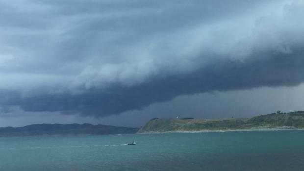Storm clouds loom over Manu Bay, Waikato. File photo.