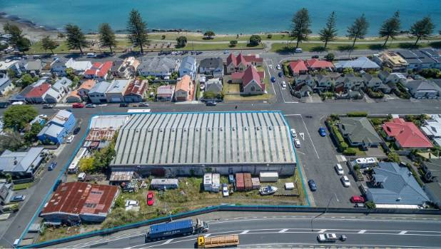 A large development site on Waghorne St in Napier is up for grabs.
