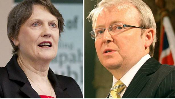 Helen Clark and Kevin Rudd - the battle for the UN's top job appears to be getting personal