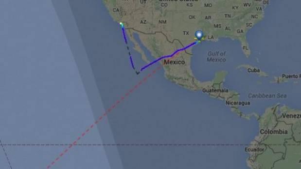 Flightradar24.com shows how the flight changed course.