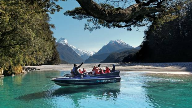 Take a jet boat ride to the heart of the Mount Aspiring National Park.