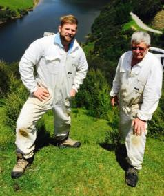 James and Tony Annabell have established Egmont Honey to export honey to Asia.