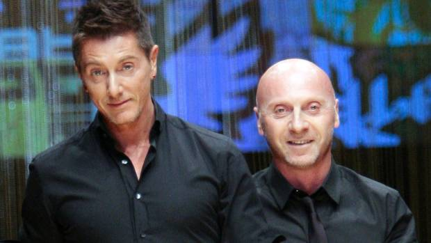 "Stefano Gabbana, right, hit out at Cyrus over her message, reportedly calling the singer ""ignorant"" and he vowed the ..."