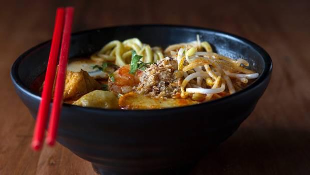 The Asiatique is serving laksa with noodles.