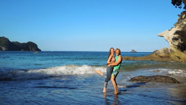 Travel blogging couple Barbara and Radoslav Cajkovic say Cathedral Cove is among their top romantic spots.