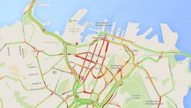 Streets in central Auckland were getting heavily congested.