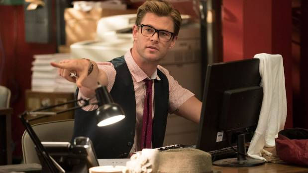 Chris Hemsworth as he appears in Ghostbusters.