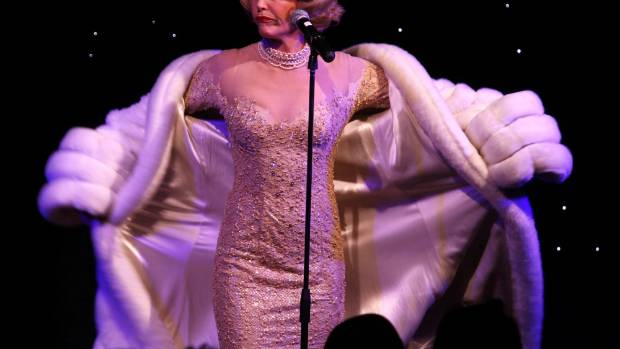 Ward-Lealand in one of her favourite roles, as Marlene Dietrich.