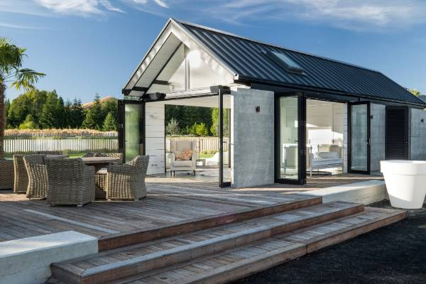 Pool cabana is centrepiece of outdoor entertaining for Outdoor spaces nz