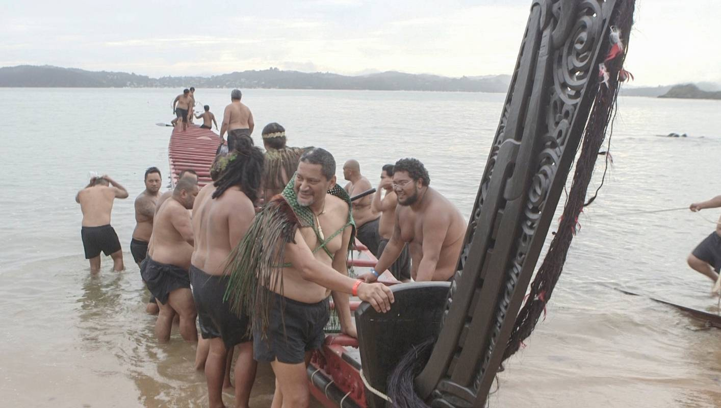 debb2855a3797 Cook gets day off to watch waka power across the water at Waitangi |  Stuff.co.nz