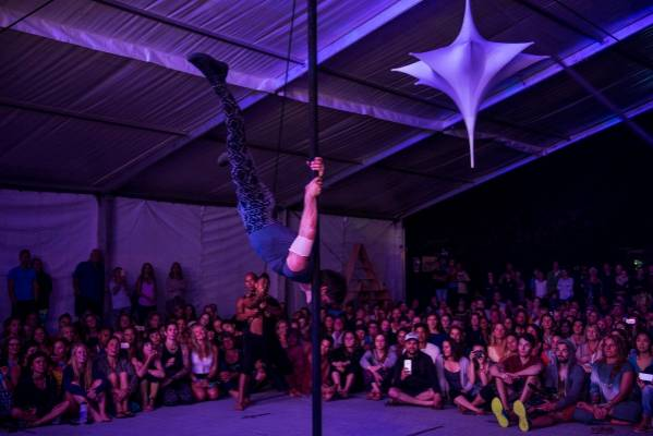 .Acrobatics enthralled the crowd at Taupo's Wairakei Estate on Thursday night.