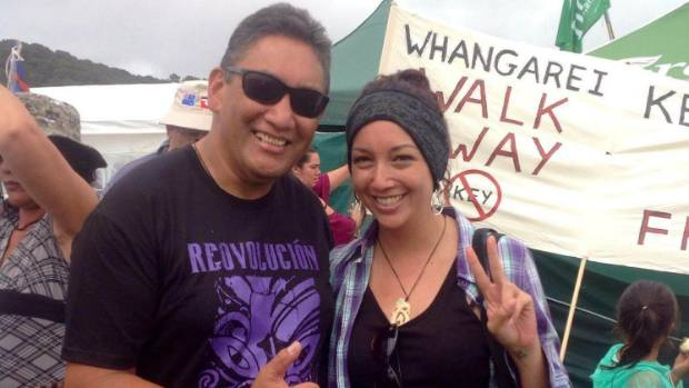 Josie Butler (pictured with Hone Harawira) says it was a squeaky toy, not a sex toy.