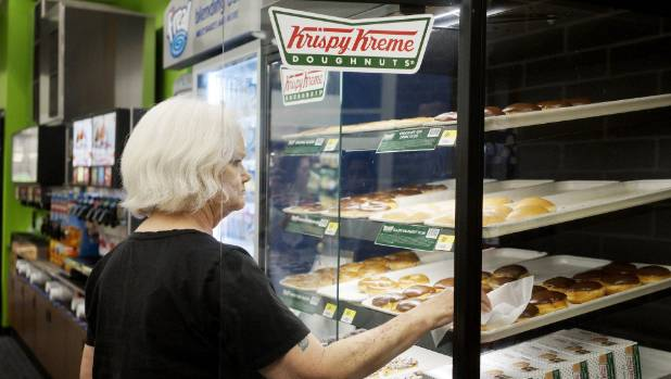 Krispy Kreme doughnuts at a Walmart to Go convenience store in Arkansas.