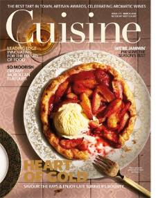 The March issue of Cuisine is in stores on Monday, February 15.