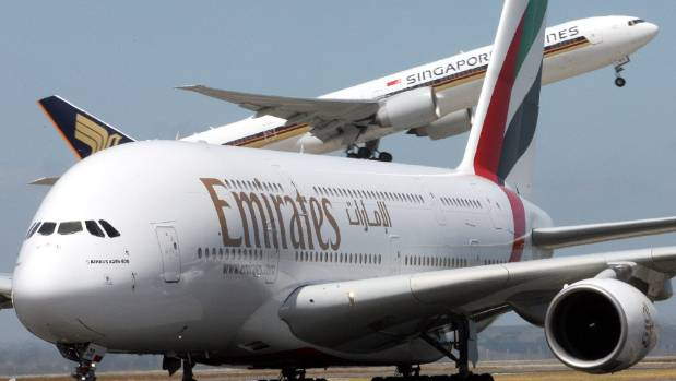 Emirates has three Airbus A380 double-decker services to Auckland from Australia and a daily Boeing 777-300ER ...