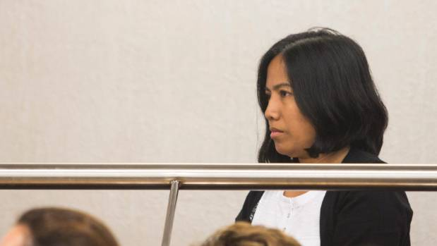 Lorraine Anne Jayme, pictured during an earlier appearance, faces 287 charges of obtaining work visas using fraudulent means.
