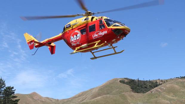 Westpac Helicopter transported the man to hospital.