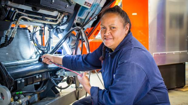 Ann Marie Edmonds is an automotic electrical engineer and spends her days building fire trucks.