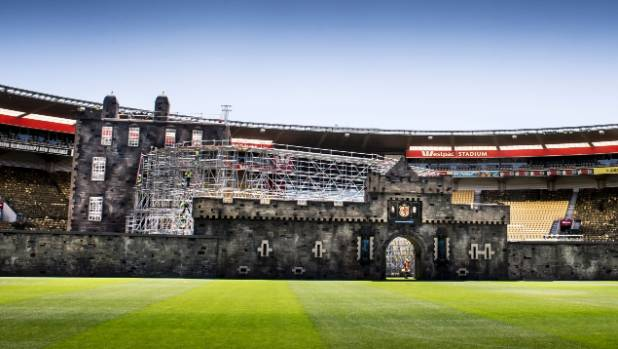 The replica facade will take a week to set up at Westpac Stadium