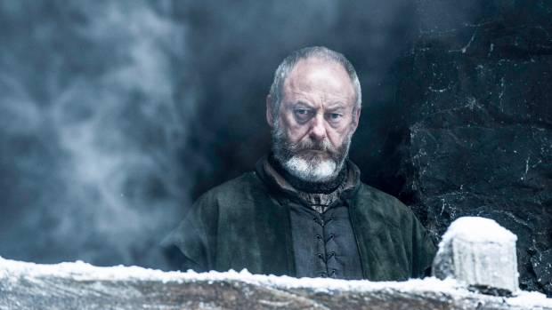 Liam Cunningham as Davos Seaworth, who makes travel round The Seven Kingdoms look easy as.