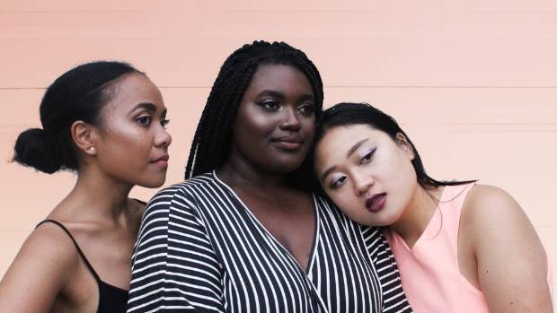 3f93c22fb4b Clara Siry, Anabelle Acquah and Chanel B., who together work on YouTube as