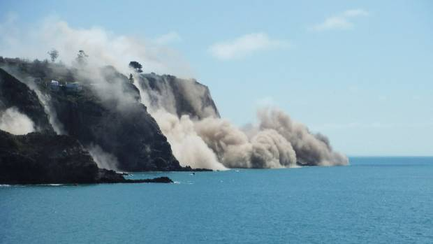 A cliff collapse, as seen from Taylors Mistake.