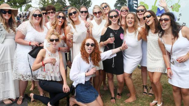 A hens' party at the Marlborough Wine and Food Festival.